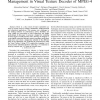 Systematic design flow for dynamic data management in visual texture decoder of MPEG-4