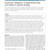 Systematic integration of experimental data and models in systems biology