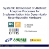 Systemc refinement of abstract adaptive processes for implementation into Dynamically Reconfigurable Hardware