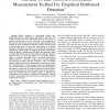 TBI: End-to-End Network Performance Measurement Testbed for Empirical Bottleneck Detection