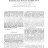 TCP-Africa: an adaptive and fair rapid increase rule for scalable TCP