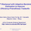 TCP Westwood with adaptive bandwidth estimation to improve efficiency/friendliness tradeoffs