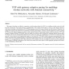 TCP with gateway adaptive pacing for multihop wireless networks with Internet connectivity
