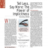 Tell Less, Say More: The Power of Implicitness