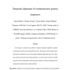 Temporal alignment of communicative gesture sequences