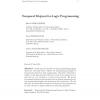 Temporal Disjunctive Logic Programming
