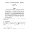 Temporal Languages for Epistemic Programs