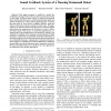 Temporal scaling of upper body motion for Sound feedback system of a dancing humanoid robot