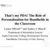 'That's my PDA!' The Role of Personalization for Handhelds in the Classroom