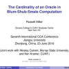 The Cardinality of an Oracle in Blum-Shub-Smale Computation