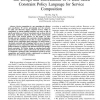 The Design and Enforcement of a Rule-based Constraint Policy Language for Service Composition