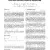 The effect of communication costs in solid-state quantum computing architectures