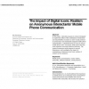 The impact of digital iconic realism on anonymous interactants' mobile phone communication