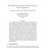 The Justification of Logical Theories based on Data Compression