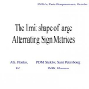 The Limit Shape of Large Alternating Sign Matrices