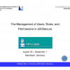 The management of users, roles, and permissions in JDOSecure