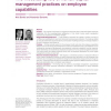 The moderating role of human capital management practices on employee capabilities