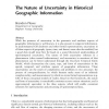 The Nature of Uncertainty in Historical Geographic Information