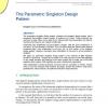 The Parametric Singleton Design Pattern
