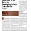 The Power of 10: Rules for Developing Safety-Critical Code