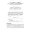 "The probability of ""undefined"" (non-converging) output in generating the universal probability distribution"