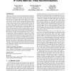 The problem of synthetically generating IP traffic matrices: initial recommendations
