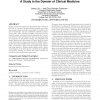 The role of knowledge in conceptual retrieval: a study in the domain of clinical medicine