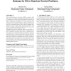 The second harmonic generation case-study as a gateway for es to quantum control problems