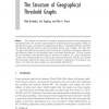 The Structure of Geographical Threshold Graphs