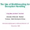 The Use of Multithreading for Exception Handling