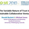 The Variable Nature of Trust in Sustainable Collaborative Ventures