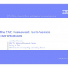 The XVC Framework for In-Vehicle User Interfaces