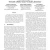 Thinking Adaptive: Towards a Behaviours Virtual Laboratory
