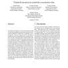 Threshold extraction in metabolite concentration data