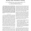 Throughput optimization for multipath unicast routing under probabilistic jamming