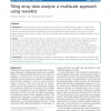 Tiling array data analysis: a multiscale approach using wavelets