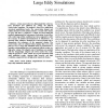 Time Conservative Finite Volume Method for Large Eddy Simulations
