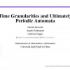 Time Granularities and Ultimately Periodic Automata
