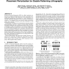 Timing yield-aware color reassignment and detailed placement perturbation for double patterning lithography