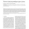 Tools for analyzing intelligent agent systems