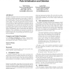 Toward a better understanding of rule initialisation and deletion