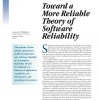 Toward a More Reliable Theory of Software Reliability