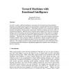 Toward Machines with Emotional Intelligence