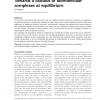 Towards a calculus of biomolecular complexes at equilibrium