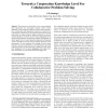 Towards a Cooperation Knowledge Level For Collaborative Problem Solving