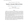 Towards a Semantic Wiki for Science