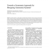 Towards a systematic approach for designing autonomic systems