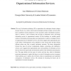 Towards a theory of organizational information services