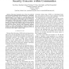 Towards an Understanding of Security Concerns within Communities