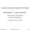 Towards Distributed Algorithm Portfolios